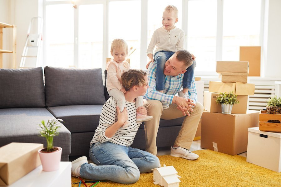 Family preparing for moving