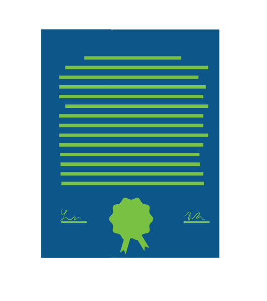 blue and green lease icon