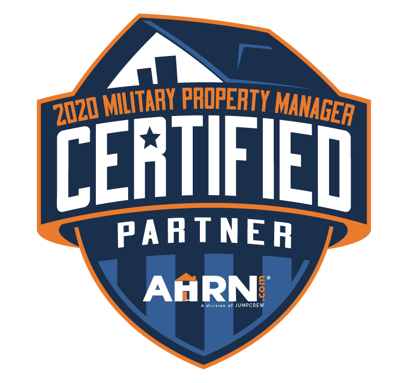Military property manager certified partner badge