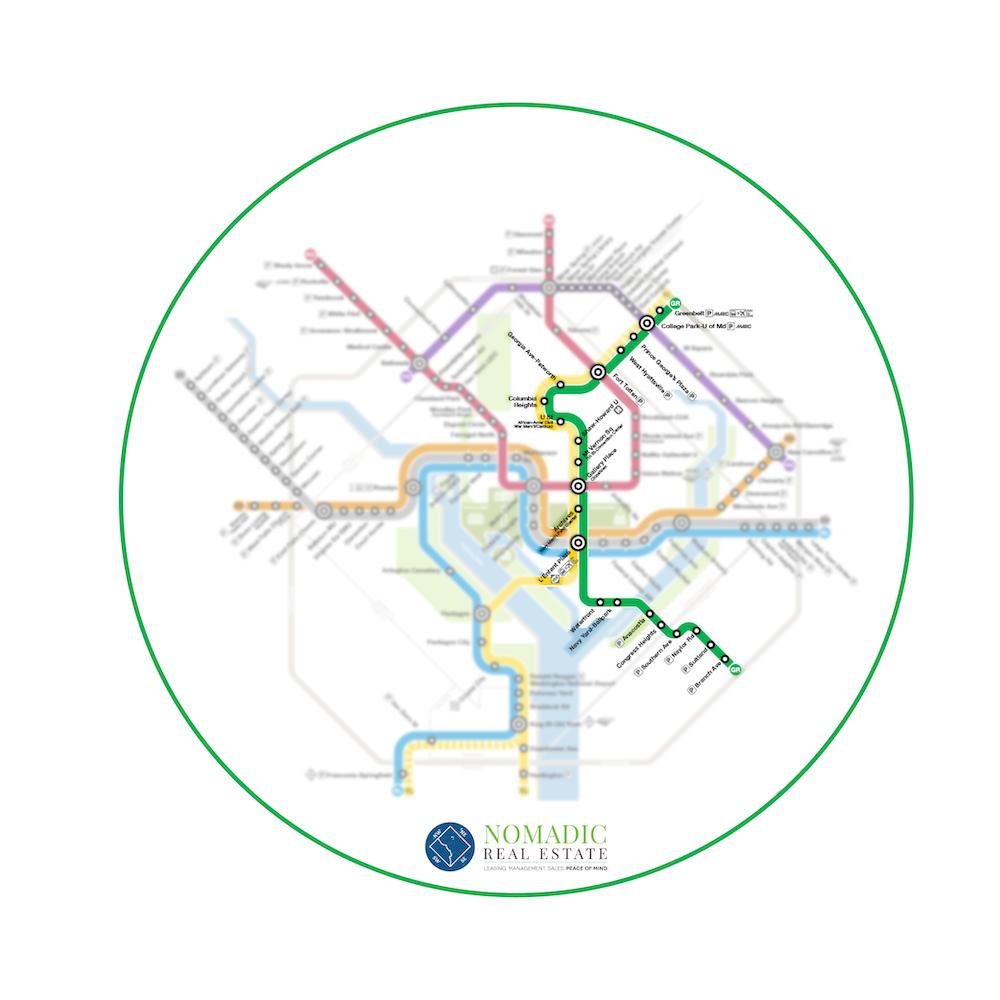 green line metro map