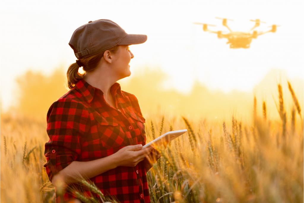 Woman with a drone
