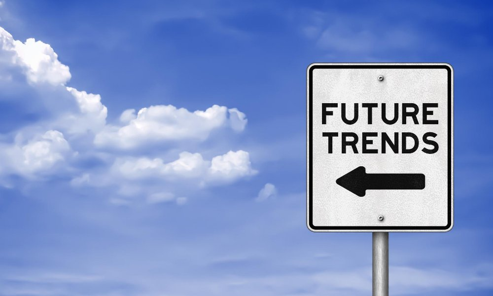 Sign that says future trends