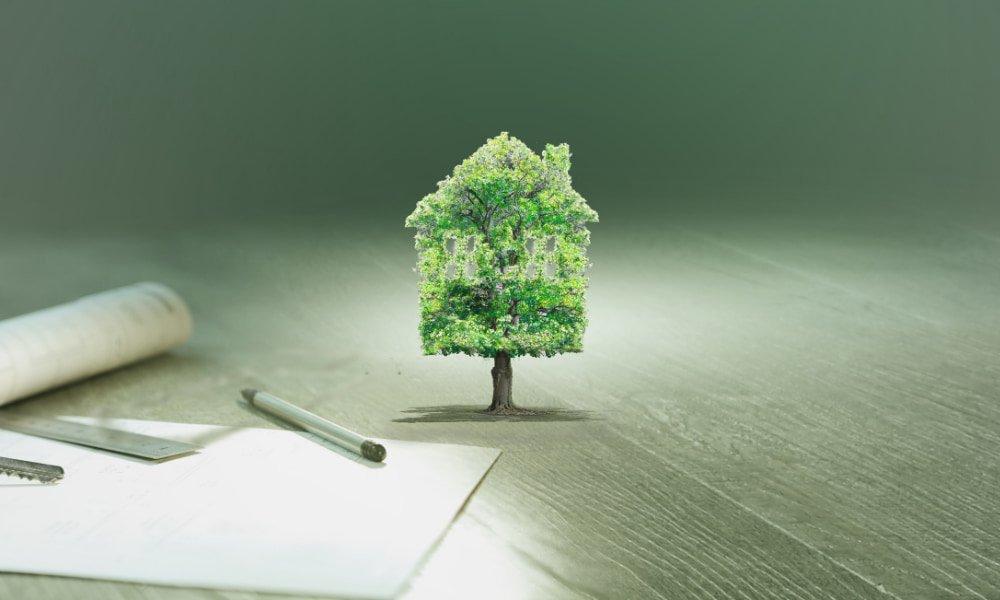 image where a house is a tree