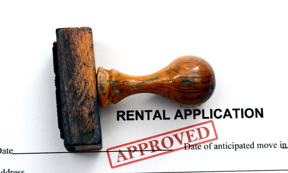 Rental Application going through the rental application process
