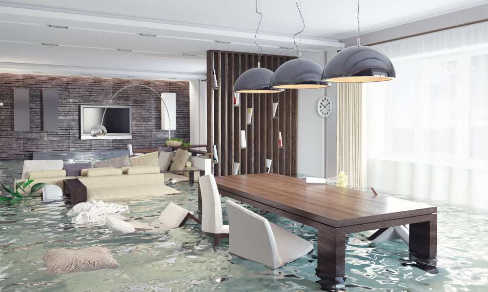 flood inside a living room