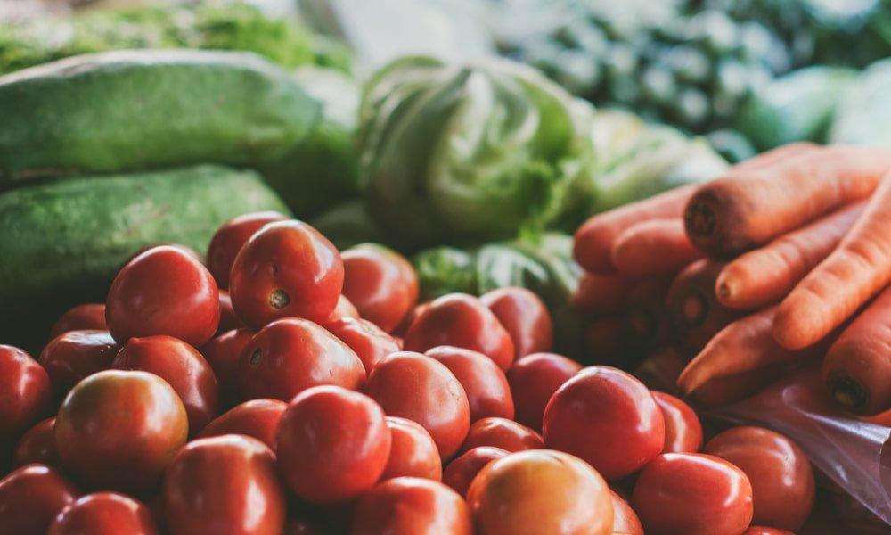 Farmers market tomatoes