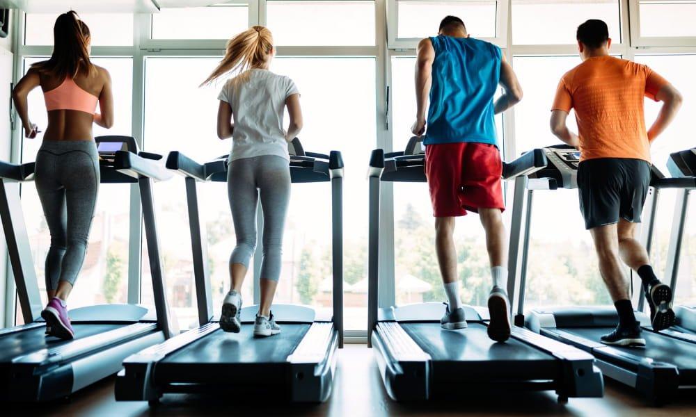 Person running on the treadmill