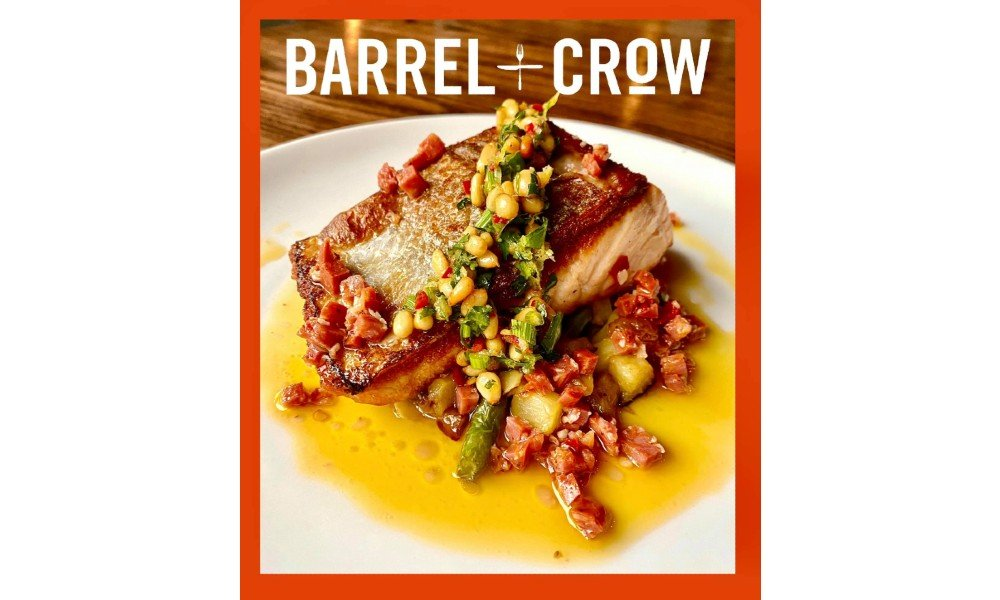 Food from barrel and crow in Bethesda, md.