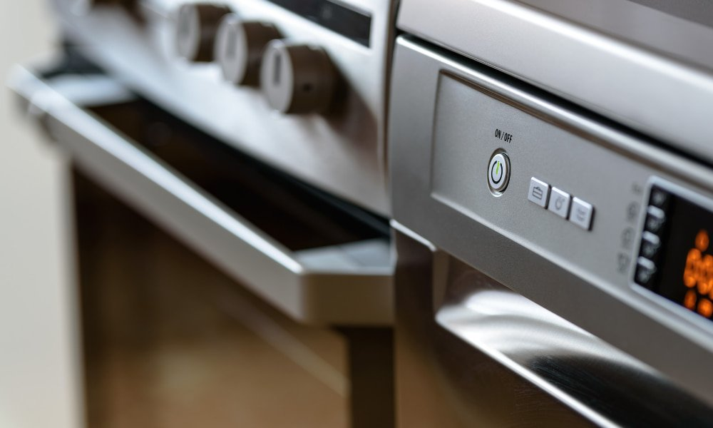 Close up of a stove appliances