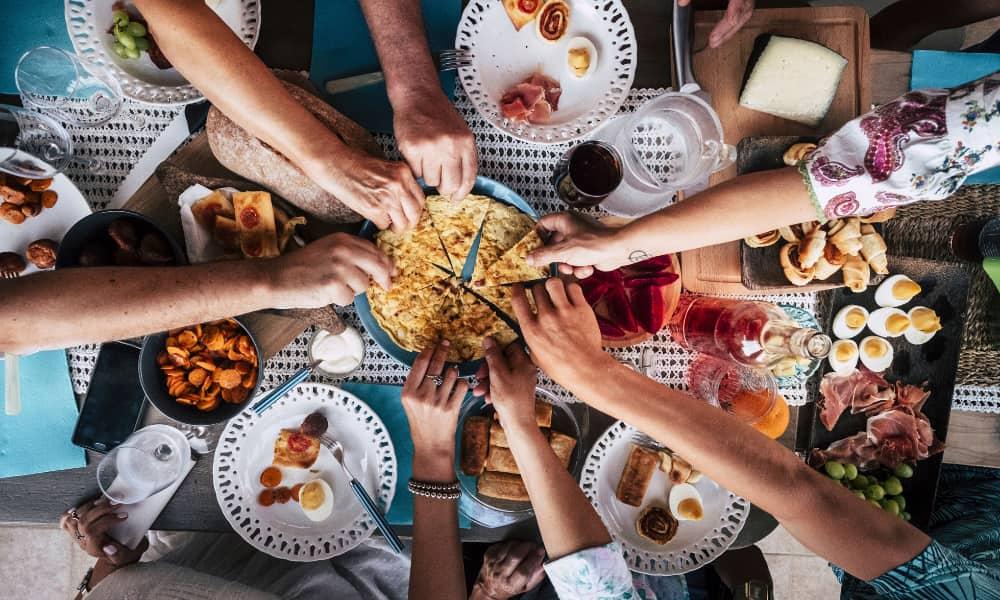 family dinner in Alexandria