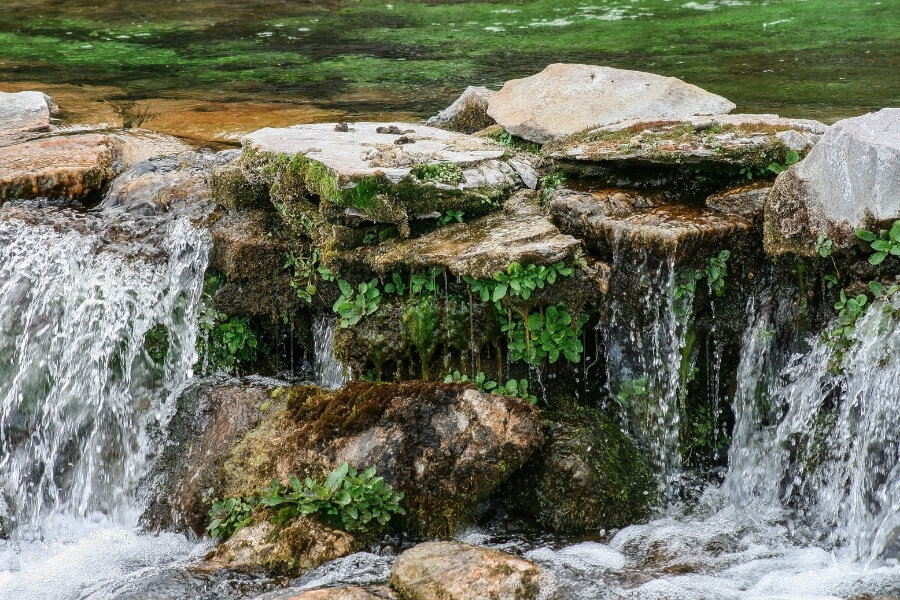 small waterfall in Great Falls nature park