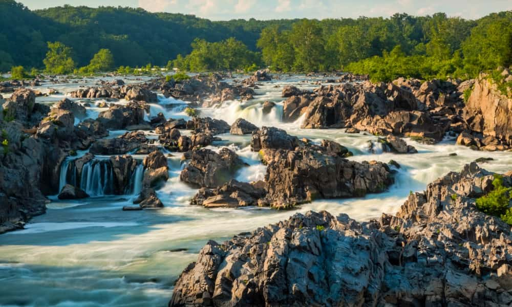 the waterfalls at Great Falls Park, one of the best things to do in Potomac, MD