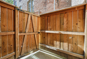 wooden fence and gate doorway